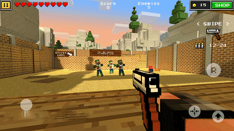 Pixel Gun 3D Mod Apk money/experience + Data 13.0.0 Download