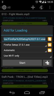 Loader Droid download manager v0 9 9 9 Beta 4 Apk for Android