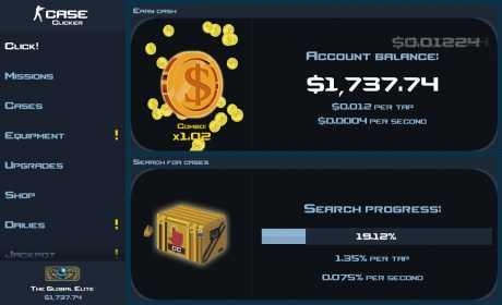 Case clicker trading system