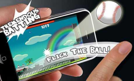 Flick Home Run! baseball game