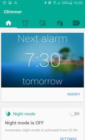 Glimmer (luminous alarm clock)