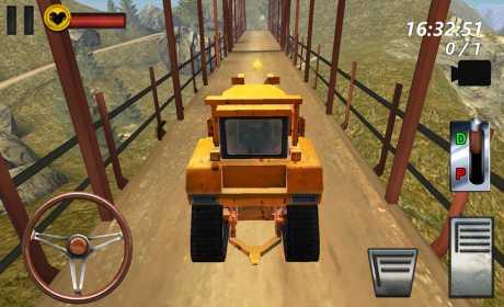 Bulldozer Drive 3D Hill Mania