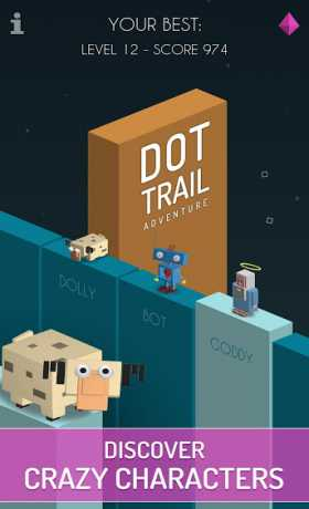 Dot Trail Adventure: Dash on line, get the ball