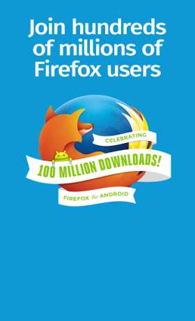 Firefox. Browse Freely