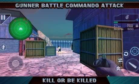 Gunner Battle Commando Attack