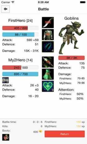 Heroes Sim