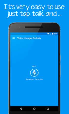 Voice changer for kids and families
