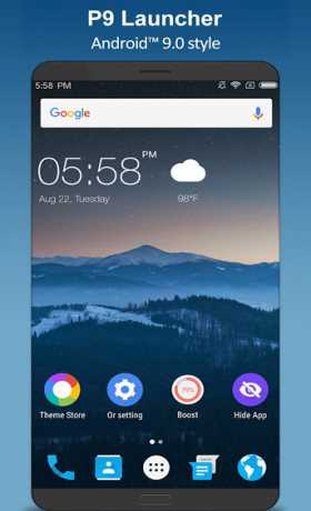 P9 Launcher - Android™ 9.0 P Launcher Style