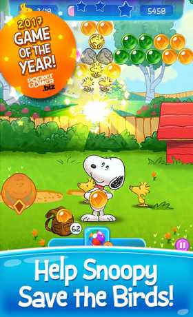 Snoopy Pop 1 35 700 Apk + Mod (Live/Coins/Booster) android