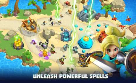 3D Wild TD: Tower Defense in Fantasy Sky Kingdom