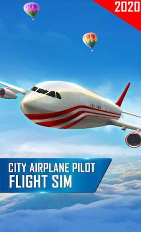 City Airplane Pilot Flight Sim - New Plane Games
