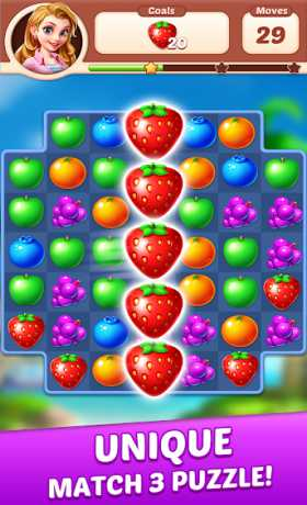 Fruit Genies - Match 3 Puzzle Games Offline