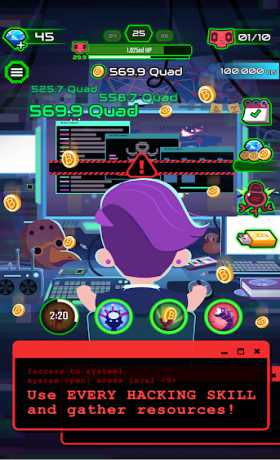 Hacking Hero - Cyber Adventure Clicker
