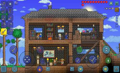Terraria mod apk is best adventure game for android