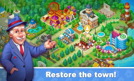Town Blast: Restore & Decorate the Town! Match 3 0.7.0 Apk + Mod (Unlimited Gold/ Diamonds) for android
