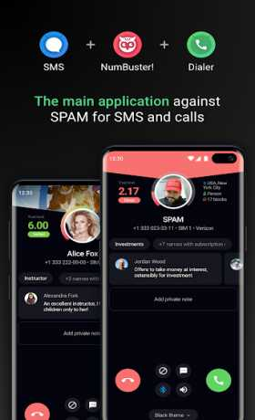 Who calls Caller name id, Safe calls SMS Blacklist