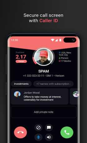 Who calls Caller name id, Safe calls SMS Blacklist
