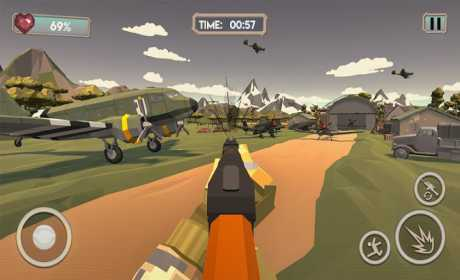 World War 2 Shooting Games: Polygon WW2 Shooter
