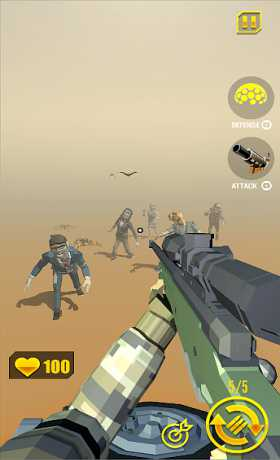zombie shooter: shooting games